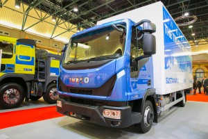 The Iveco Eurocargo at the Freight in the City Expo in London, October 2015.