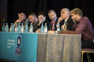 Panellists at the Fors conference in Birmingham